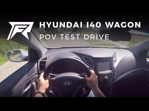 2017 Hyundai i40 Wagon 1.7 CRDi POV Test Drive no talking, pure driving