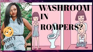 PEEING IN ROMPERS/JUMPSUITS MADE EASIER