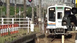 天竜浜名湖鉄道 6:31発新所原行 掛川駅1番のりば入線