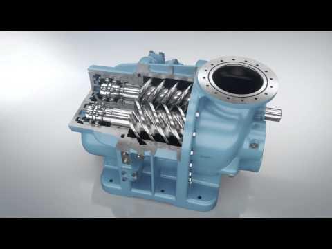 Винтовой компрессор Chicago Pneumatic QRS 1.5 электрический - YouTube