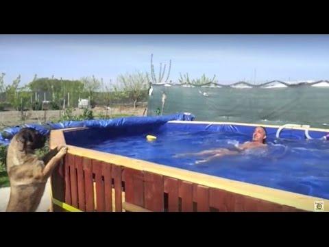 Diy pallets swimming pool 2 3 youtube - Meuble hifi diy ...