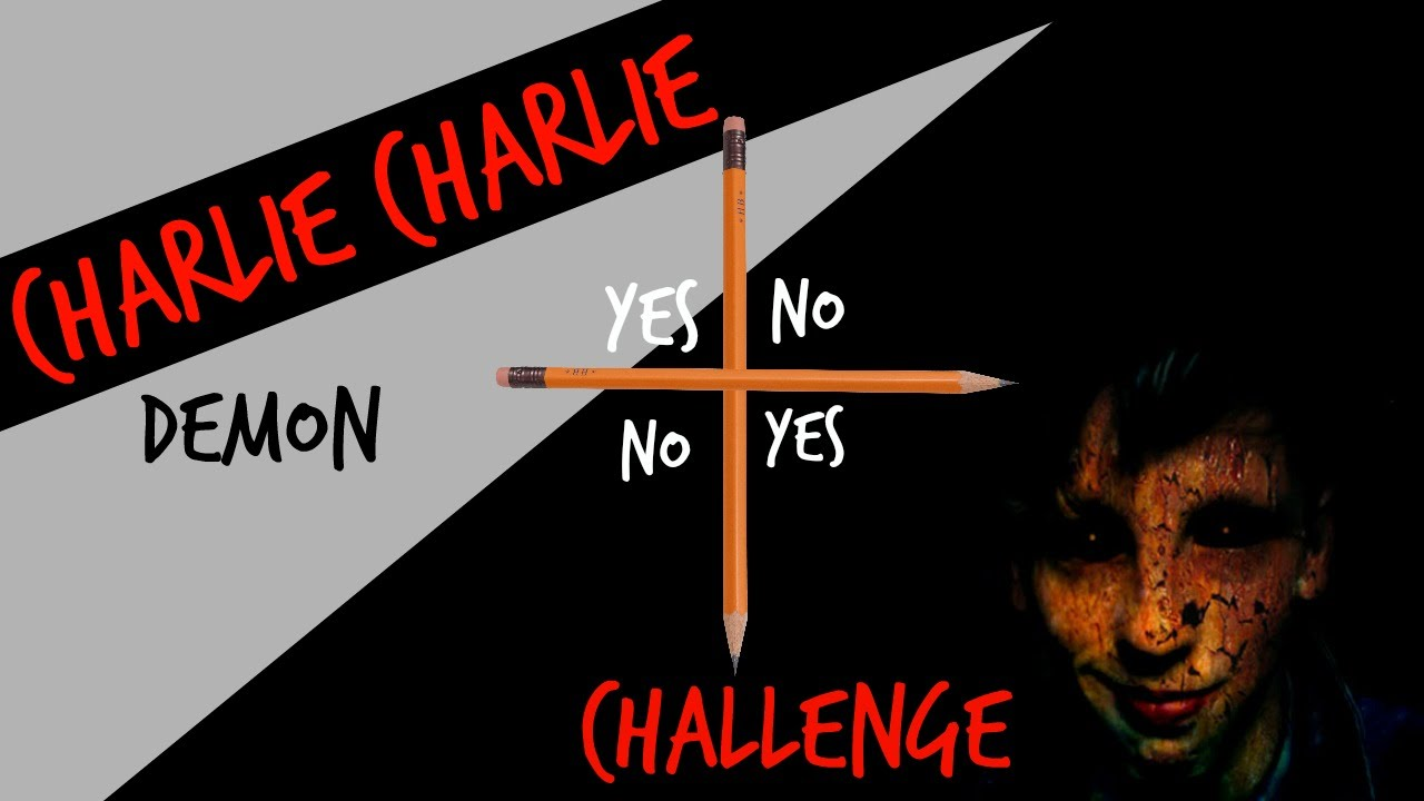 CHARLIE THE DEMON IS REAL | CHARLIE CHARLIE CHALLENGE - YouTube