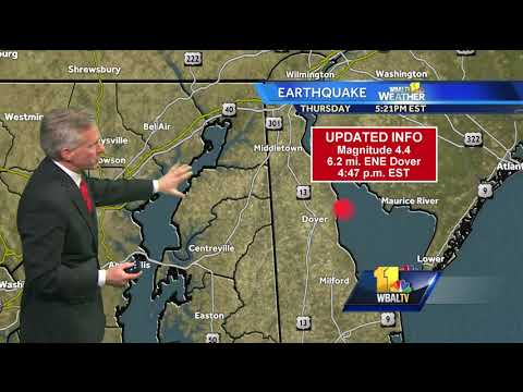 Video: Earthquake felt in Maryland originated in Delaware, USGS says