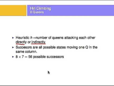 hillClimbing 8 queens