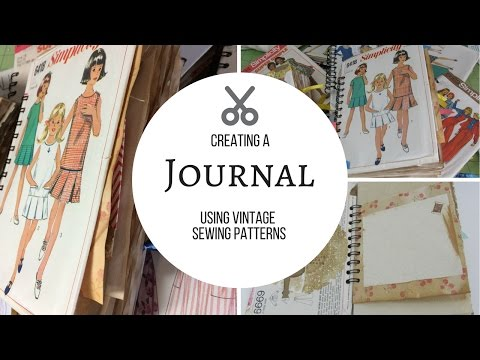 Making Journals from Sewing Patterns