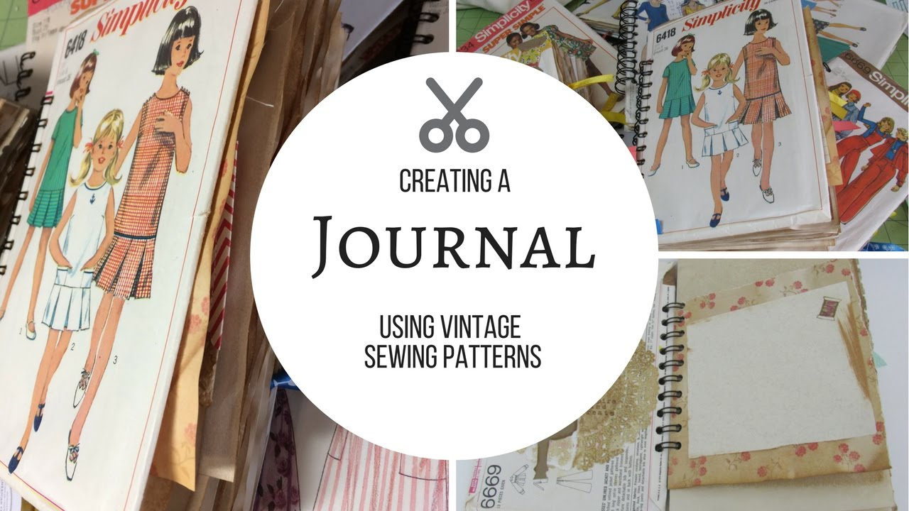 Making Journals from Sewing Patterns - YouTube