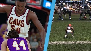 Giant 0 Overall NBA Player VS Tiny 99 Overall NFL Player? Who Is Better?
