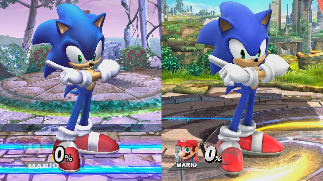 super smash bros wii u sonic evolution youtube