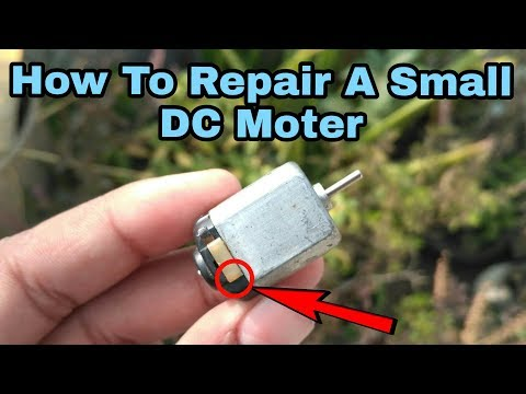 How to repair a small dc moter? at home!! DC Moter !!