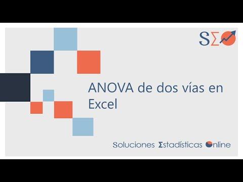ANOVA de dos vías en Excel - YouTube