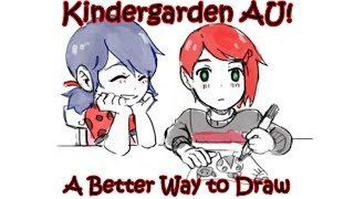 [Miraculous Ladybug Comic Dub] Kindergarden AU! | A Better Way to Draw