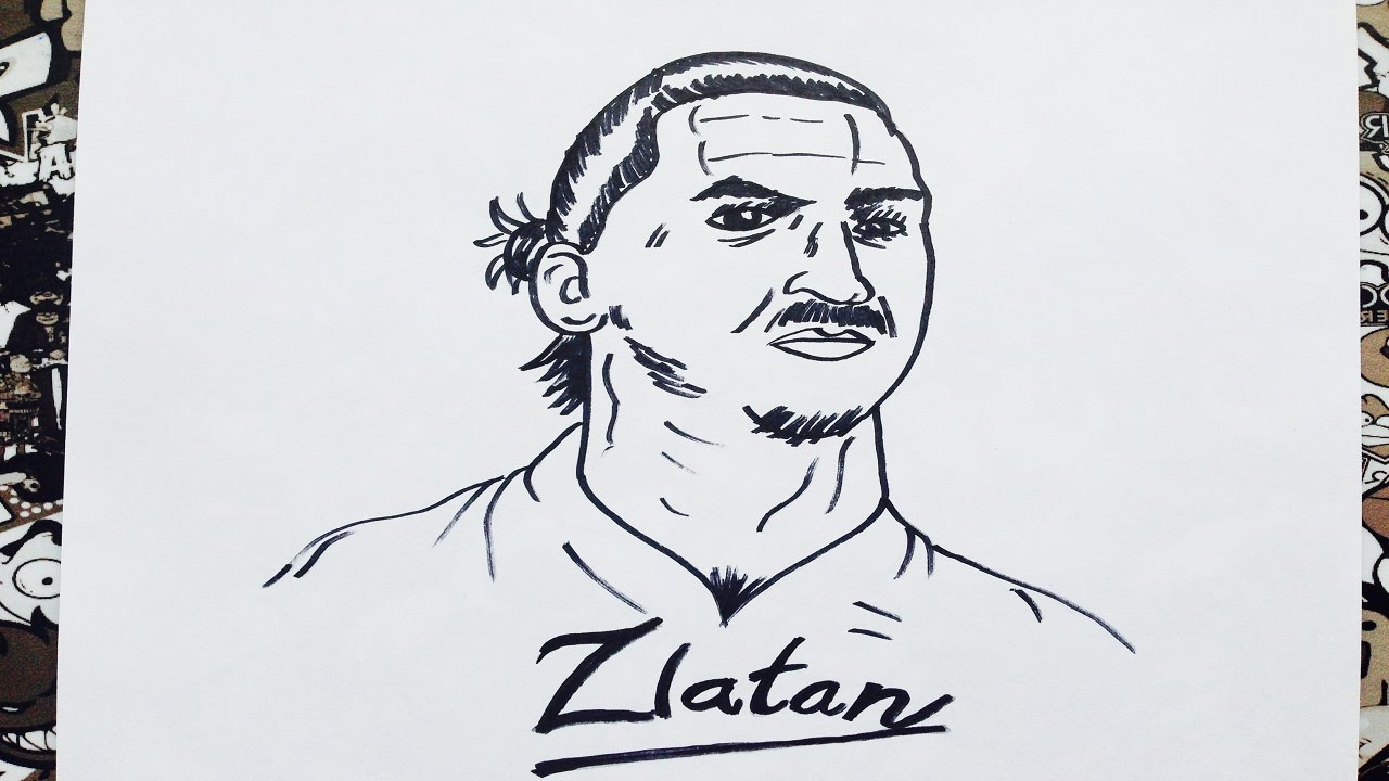 Como dibujar a zlatan Ibrahimovic  how to draw zlatan