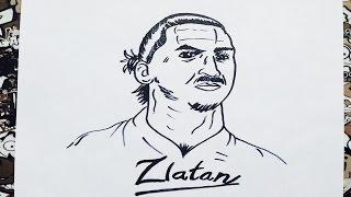 Como dibujar a zlatan Ibrahimovic | how to draw zlatan hibrahomivic | como desenhar o zlatan i