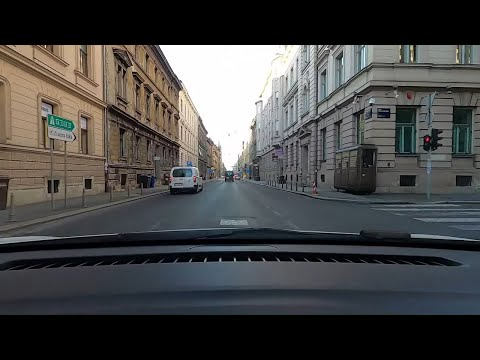 Zagreb Croatia drive early morning