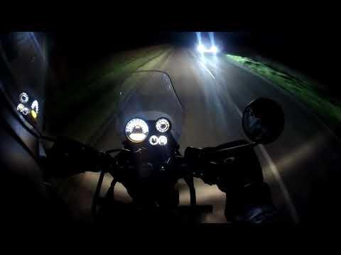 Royal Enfield Himalayan night ride with LED Spotlights