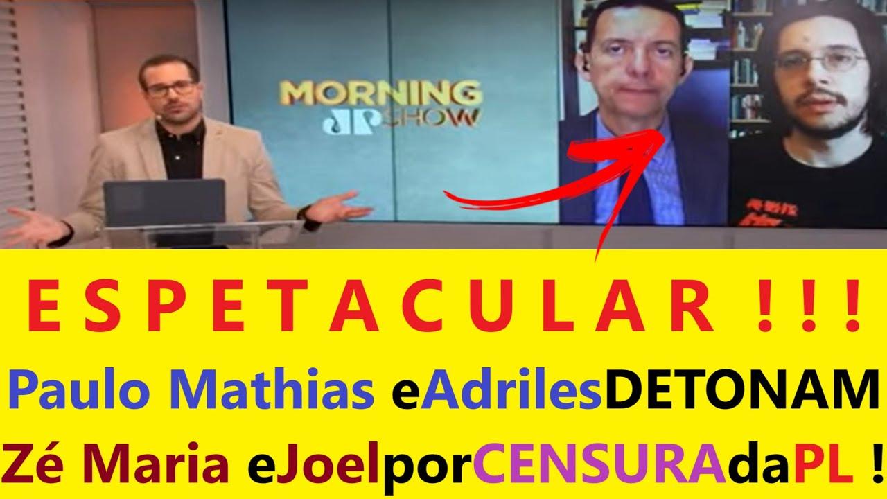 BRILHANTE FALA de Paulo Guedes! Zé Maria eJoel FORAM DETONADOS por Paulo eAdrilles Jovem Pan Ao Vivo