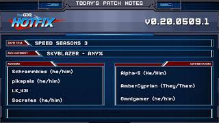 GDQ Hotfix presents Speed Seasons Skyblazer