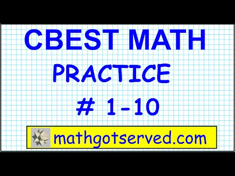 CBEST Math  Practice Test # 1 to 10 Solutions Exam pass website locations