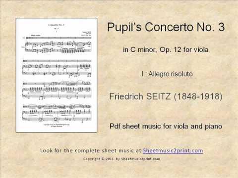 Seitz : Concerto No. 3, Op. 12 for Viola (1/3)