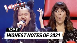 Download The HIGHEST NOTES of 2021 on The Voice Kids