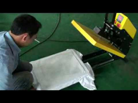 T shirt heat press machine china youtube for Machine for printing on t shirts