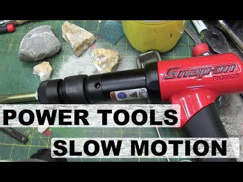 Download Youtube: Power Tools working. Filmed with High Speed Camera.