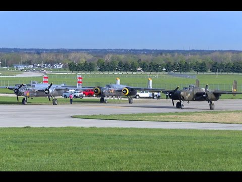 B-25s fly in for Doolittle Raid 75th Anniversary - 17 Apr 2017