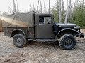 Johns 1952 Dodge M37 Army truck ride thru the woods