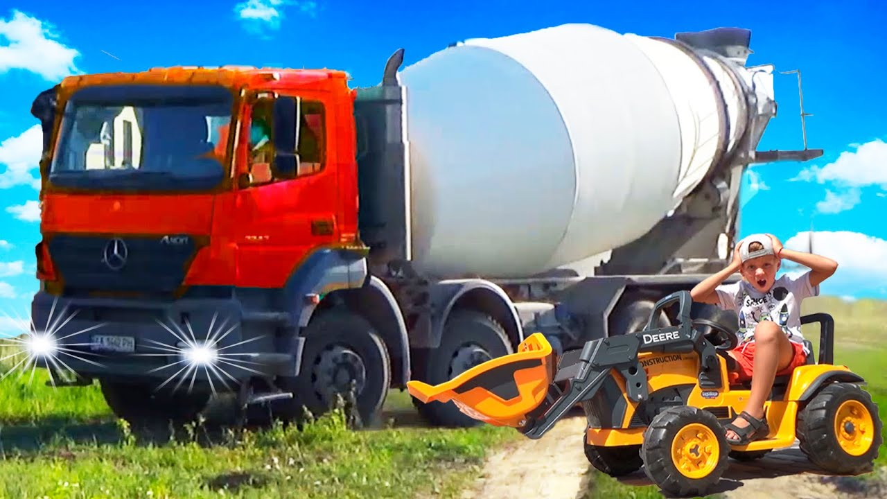 Funny stories about Trucks BRUDER, Concrete Mixer and other Construction cars - Compilation