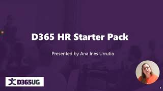 Dynamics 365 Human Resources Starter Pack with Ana Inés Urrutia