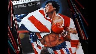 Drawing Sylvester Stallone as Rocky Balboa | Ana Sofi San
