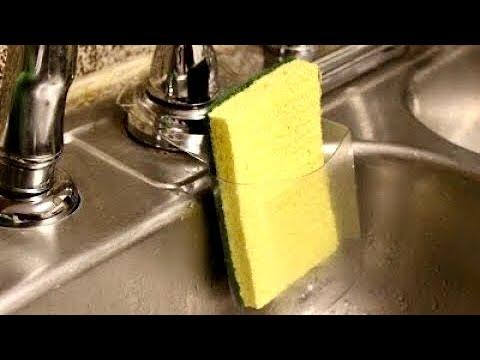 How To Make Sponge Holder With Plastic Bottle.