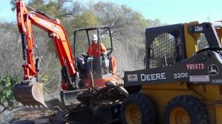 Bobcat/Excavator Teamwork - www.Embrace1.org