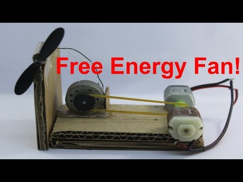 Free Energy Fan made by dc motor (100000% work) || No cost energy