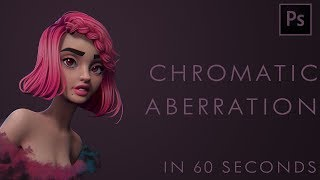 How to add CHROMATIC ABERRATION in Photoshop - 60 second tutorial