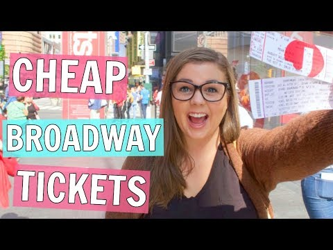 How I Get Cheap BROADWAY Show Tickets in New York City!