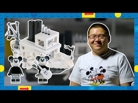LEGO Steamboat Willie Designer Video - Official LEGO Ideas Set 21317