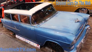 1955 Chevrolet 210 Wagon Handy Man Special  Patina Rod The SEMA Show 2017