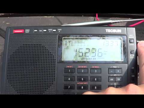 DXpedition Channel Africa 15235 on two Tecsun Radios at 1740 UTC