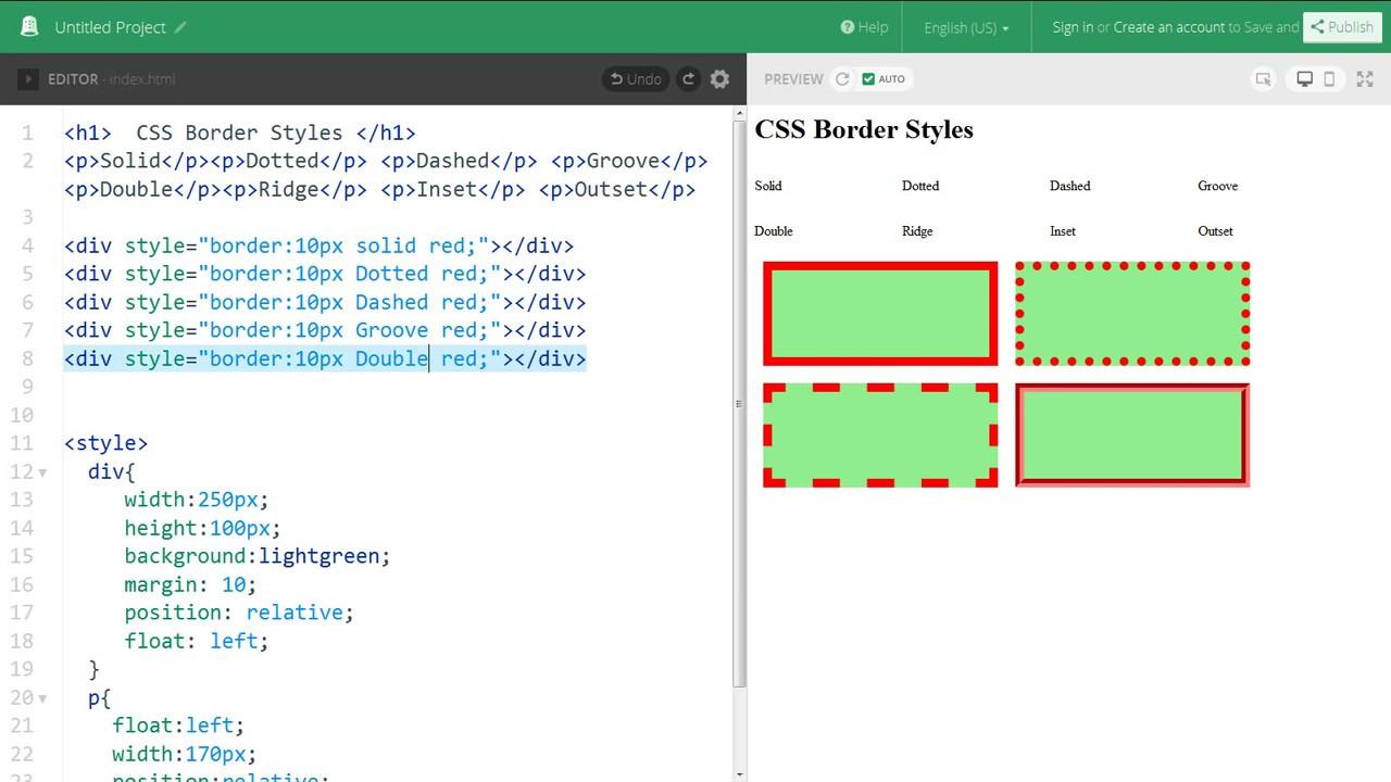 Css border styles web zone youtube - Css div border ...