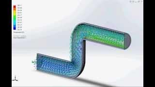 Симуляция потока воды в трубе