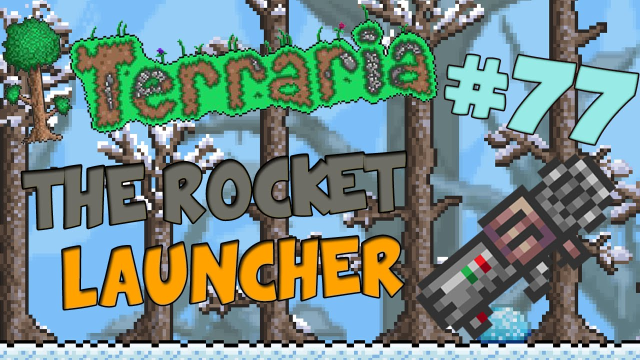 Let's Play Terraria (1 2) iOS/Android Edition - The Rocket Launcher! -  Episode 77