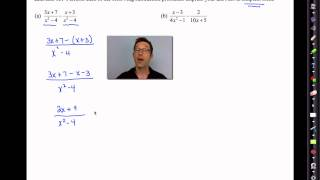 Common Core Algebra II.Unit 10.Lesson 8.Adding and Subtracting Rational Expressions