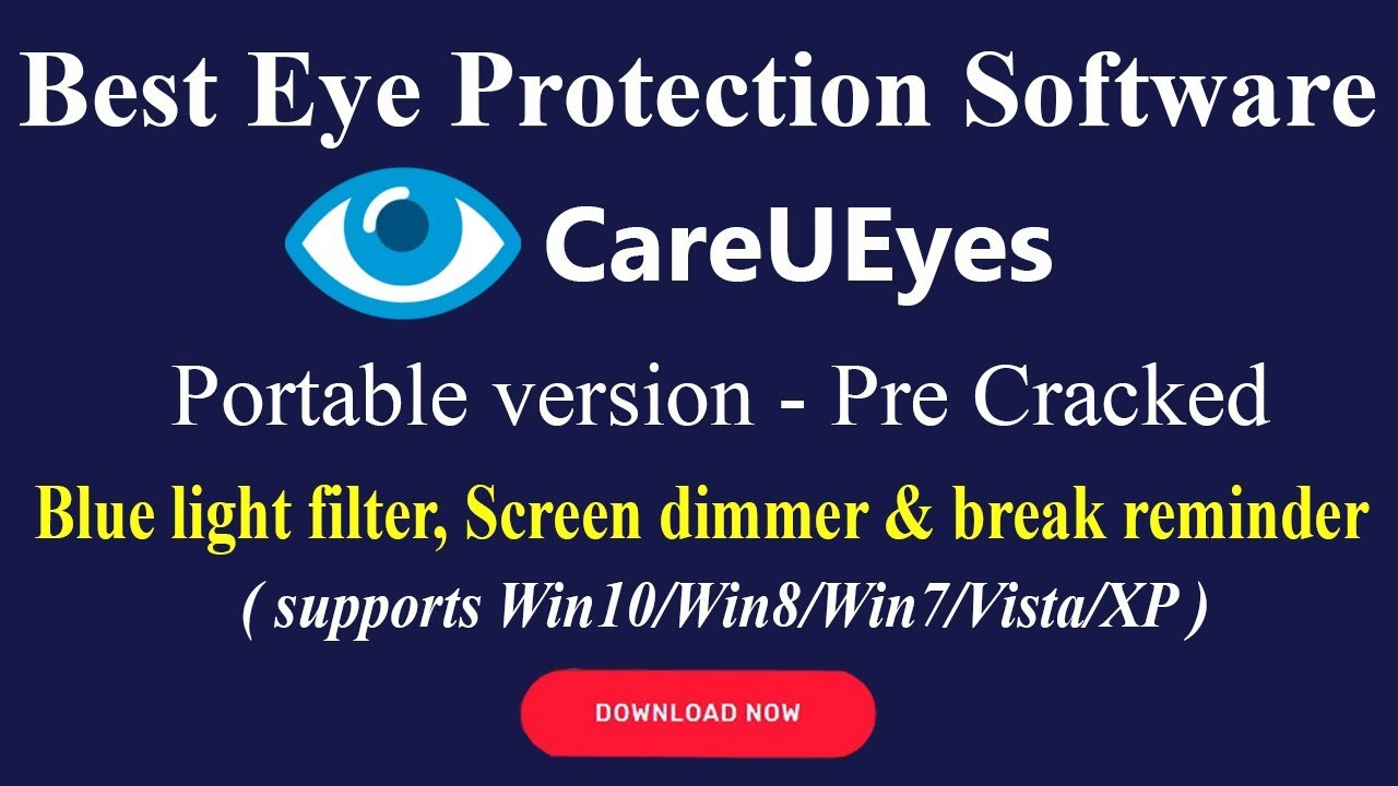 CareUEyes PRO  Free download V  1 1 20  Blue light filter/ Screen dimmer   CareUEyes PRO