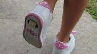 Natalie Demonstrating Her Heelys