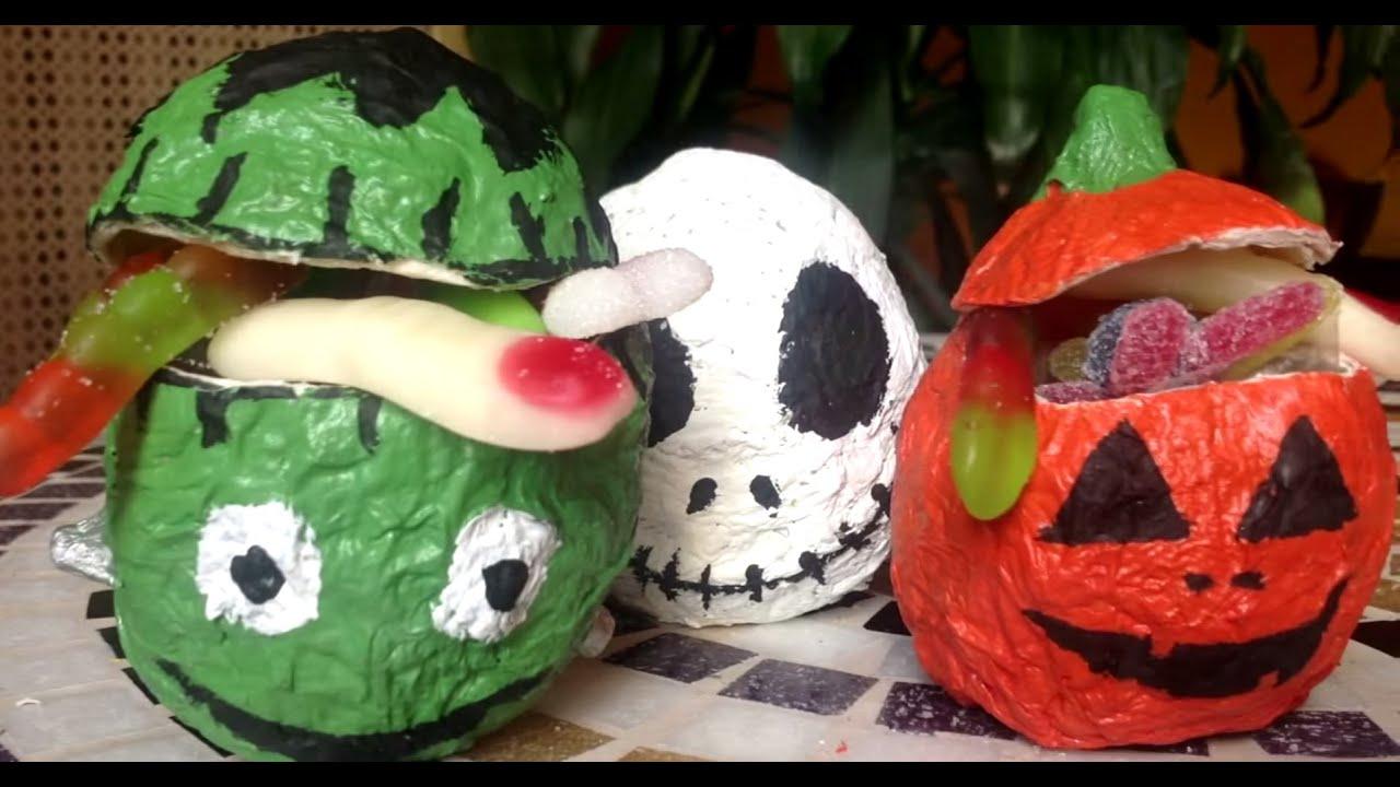 Monstruitos de halloween manualidades de halloween - Adornos de halloween para hacer en casa ...