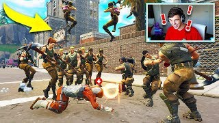 DEFAULT SKIN ARMY vs TILTED TOWERS in Fortnite Battle Royale!