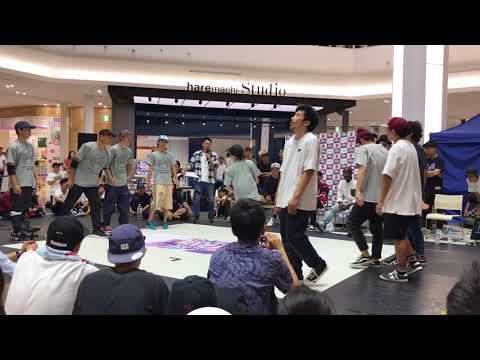 2017.9.2 HIP HOP NEW SCHOOL JAM BEST8 okayama B-boyz Vs O.K.Y.M Kids
