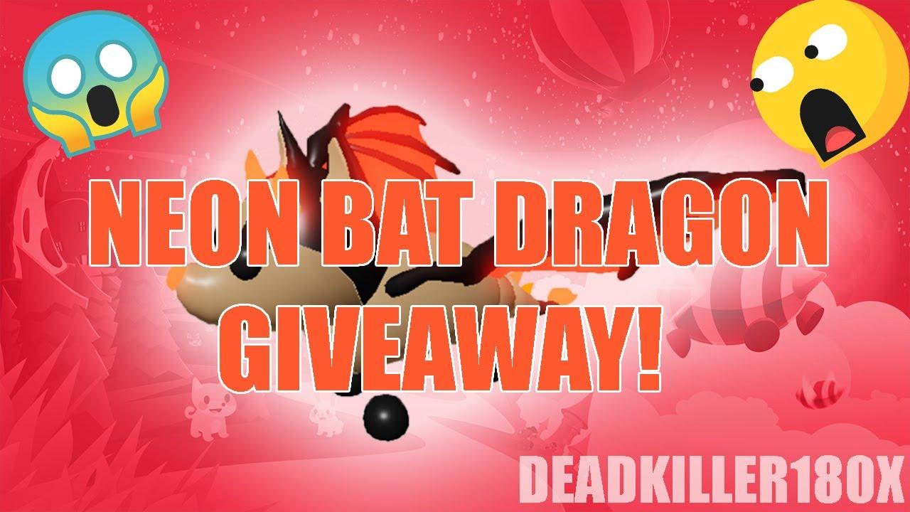 Roblox Adopt Me Mega Neon Bat Dragon