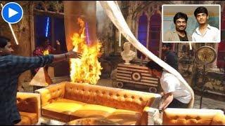 Watch: Fire On Puri Jagannadh Son Akash Film Set | Sakshi Post